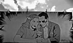 True Love (Robert S. Photography) Tags: art wall street mural coneyartwalls man woman date sharing eggcream outdoor museum coneyisland newyork brooklyn nikon coolpix l340 iso80 september 2016