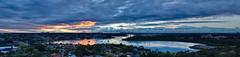 Sydney Sunrise (CoolYota) Tags: oceania australia sydney newsouthwales sunrise sky blue orange panorama handheld goldenhours goldenhour
