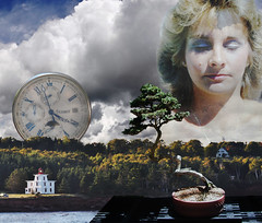 coll 122 - Think of a Time (clw_and_dog) Tags: photography newagespiritualart digital collage mystic art artwork digitalmanipulation surrealart surrealartist photographer photographic cwilson wilson peaceful goddessart digitalphotocollage spiritualartwork photocollageartist photomontageartist ikabana flowers castles photoshopart bronze porcelain ships