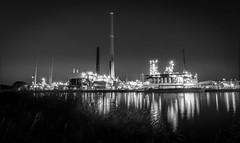 Oil refinery Lingen B/W (andreasmally) Tags: oil refinery lingen black white
