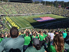 UO marching band (LarrynJill) Tags: autzen football band arena flag