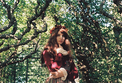 (Rei La Roca) Tags: autumn nature mori japanese lollita red model portrait portraiture portraitphotography cute kawaii forest trees dress simple clean 645 mamiya medium mediumformat mamiya645 film filmisnotdead expired expiredfilm
