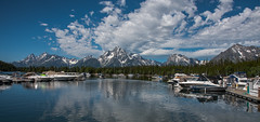 Marina - Colter Bay - Grand Teton National Park - Wyoming - 21 June 2016 (goatlockerguns) Tags: mountain view hermitage point colter bay grand teton national park wyoming usa unitedstatesofamerica west western nature natural nationalpark lake pond forest trees tree trail