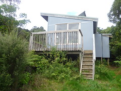 back of cabin (Sudarshanaloka) Tags: sudarshanaloka tara soitarycabin newzealand triratna buddhist buddhism nature bush solitarycabin retreat solitaryretreat meditation