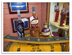 Product Display (bogray) Tags: bottles display ky whiskey historic restored preserved product bourbon distillery frankfort stoppers ofc nationalhistoriclandmark nationalregisterofhistoricplaces buffalotracedistillery geotstagg
