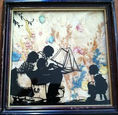 ANTIQUE FRAMED REVERSE PAINTED SILHOUETTE WITH VINTAGE Couple Giving Boy A Boat (oldsailro) Tags: park old boy sea summer people sun lake playing beach water pool girl sunshine silhouette youth sailboat race vintage children fun toy boat miniature wooden pond model couple waves sailing ship child with time yacht antique framed painted group boom giving regatta mast hull reverse spectators watercraft adolescence keel fashioned a