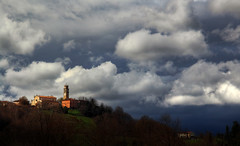 Another sky above my homeland (Robyn Hooz (away)) Tags: sky church clouds contrast canon eos nuvole hills stm efs colline conegliano 600d 18135is collalbrigo