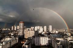 Nouveau monde (DeGust) Tags: sky paris france rain rainbow nikon day ciel paysage ville arcenciel 13earrondissement d700 nikkor1424f28 tourchambord gustavedeghilage delatourchambord