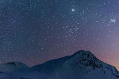 Shine the brightest (The Nature Guy) Tags: sky mountain snow nature berg norway stars landscape norge nikon m45 planets jupiter sevensisters rauma fjell pleiades møreogromsdal meissa norwegan møreandromsdal Astrometrydotnet:status=solved d7000 pyttbua nikon35mmf18gafsdx Astrometrydotnet:version=14400 putteggaenden pytteggaenden Astrometrydotnet:id=alpha20130497372363