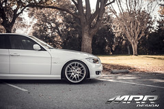 BMW_E90_MRR_GT7_WHEELS_04 (MRR WHEELS) Tags: white silver wheels bmw hyper hs concave bimmer mrr e90 gt7 335i