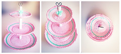 Bandeja para cupcakes (kurisucrafts) Tags: original cute art design handmade crafts clay gift diseo modelling regalo papiermache decoracin papelmache kurisu hechoamano arcilla modelado cupcaketray kurisucrafts pinkurisu bandejadecupcakes
