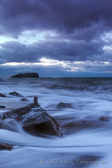 Flowing (pixellesley) Tags: ocean sea seascape clouds landscape evening sand rocks yorkshire pebbles spray foam wellingtons aftersunset saltwickbay rockpaper rockpaperexcellence
