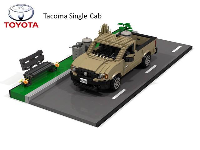 auto car model lego jane time render cab utility pickup ute single toyota tacoma plain cad povray moc ldd miniland foitsop lego911 toyotatacomatime