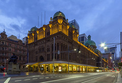 Queen Victoria Building (and Queen Vic) - Sydney (on the water photography) Tags: sydney australia qvb queenvictoria mcrae queenvictoriabuilding georgemcrae