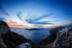 caldera (helen sotiriadis) Tags: sunset sea sky water clouds canon published santorini greece caldera cyclades waterscape canonef15mmf28fisheye canoneos6d ayearofpictures2013