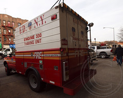 FDNY Engine 330 Thawing Unit Truck, Bensonhurst, Brooklyn, New York City (jag9889) Tags: ocean county city nyc house ny newyork building tower station architecture brooklyn truck fire engine 330 company kings parkway borough ladder firehouse fdny department firefighters 172 unit bensonhurst thawing bravest engine330 ladder172