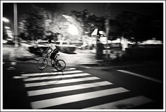 (Yang Ming ing) Tags: park street city travel light people bw white black lines bike night photography lights see student sony 28mm taiwan taichung taipei  rx100