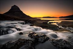 [... kirkjufell and foss ] (D-P Photography) Tags: sun mountain cold sunrise island waterfall iceland mood filter lee nd grad foss kirkjufell ndgrad leefilters canoneos5dmarkii canoncanoneos kirkjufellfoss