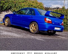 The Blue Shark (Gislaadt Art) Tags: blue car transport voiture subaru custom tuning vehicule wagen worldcars