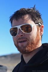 Wookie Al (zombikombi1959) Tags: morning travel camping camp west reflection bus sunglasses vw volkswagen beard nevada roadtrip shades adventure journey redhair camper greatbasin buddie toiyabe spencerhot