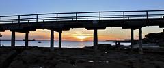 The bridge to Bare Island, La Perouse, Sydney, Australia (Idiot4Hire) Tags: ocean bridge sunset sea sky beach water bay wooden rocks harbour sydney rocky australia botany laperouse bareisland