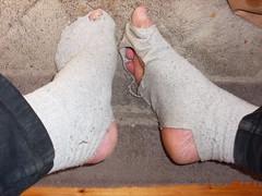 Today socks :( (lasseman92) Tags: socks sock toe hole bad holes holy terrible worn torn heel cry trasig hollow ragged tattered holey inherited hål tå strumpa straff häl strumphål utslitna
