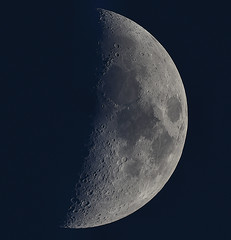 The Moon Tonight 17-04-13 (James Lennie) Tags: moon canon photography dusk astro luna crescent craters devon astrophotography astronomy dslr lunar waxing moonshot crescentmoon northdevon waxingmoon refractor ed80 pipp primefocus skywatcher mooncloseup lunarphase lunarphotography canon600d lunarcloseup autostakkert