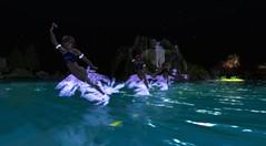 Avilion - Mer Ballet (Osiris LeShelle) Tags: life ballet mer love water dancing cove wave medieval fantasy secondlife second seventh roleplay merfolk avilion