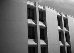 Lines & Light (happiness is...photography) Tags: light blackandwhite white black lines square texas shadows gray clearlake shape webster clearlakeregionalmedicalcenter