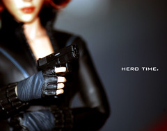 HERO TIME. (herotime) Tags: blackwidow scarlettjohansson theavengers hottoys sideshowtoys 16scale natasharomanoff ironman2 captainamericathewintersoldier hottoysmoviemasterpieceseries theavengers2 actorscarlettjohansson actressscarlettjohansson scarlettjohanssondoll