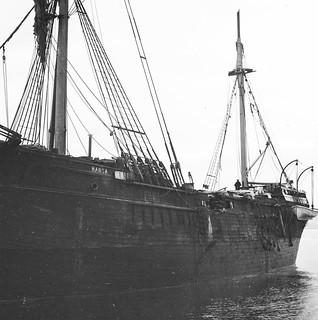 Detail showing damage to The Hansa