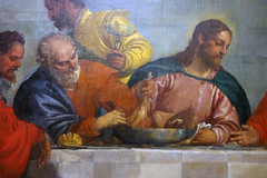 Detail of Peter and Christ, Paolo Veronese, Feast in the House of Levi