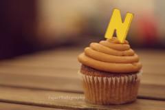 N (Fajer Alajmi) Tags: wood caramel cupcake letter