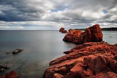 Rosso (Sante sea) Tags: sardegna longexposure red sea italy italia mare sardinia rosso ogliastra lidodicea