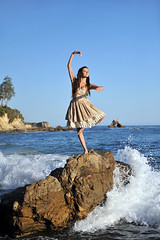 The Water Danced ~ Explore ~ Getty Images (Alexandria LaNier) Tags: ocean california summer ballet inspiration beach beautiful dance spring joy scenic wave dancer teen alexandrialanier