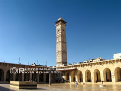 Great Mosque of Aleppo - Syria.     ,   (R.Azhari) Tags: history architecture canon minaret great mosque syria historical aleppo halab  umayyad     sx10is   greatmosqueofalepposyria