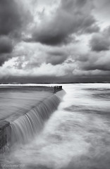 Stormy Seas (Rhys1995) Tags: ocean longexposure beach water bar clouds canon newcastle australia nsw density neutral nd400 600d
