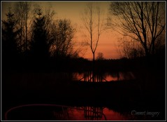 End of another day (Steve.T.) Tags: sunset sky sun reflection silhouette reflections nikon shadows dusk essex littlebaddow digitalcameraclub papermilllock d3100 ommot ommotimagery