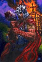 THORKIL THE VIKING 2011 (Battleground Victory) Tags: painting fantasy odin thor patty viking norse frazetta asatru worgard