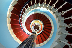 Spiral staircase, Corsewall Lighthouse (iancowe) Tags: lighthouse robert spiral scotland stair board shell scottish stevenson staircase round northern circular nlb robertstevenson corsewall lighthousetrek northernlightouseboard