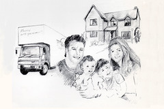 Brochure Cover Drawing (tonydickins) Tags: family building pencil print sketch drawing group screen advertisement halftone cover brochure removalvan offsetlitho