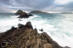 Overlooking The Great Blasket Islands  | Shane Turner Photography Tralee Co. Kerry (Shane M Turner) Tags: ireland sunset sea sky cliff storm man motion rock dead photography islands evening nikon wind head shane dingle windy an kerry lee co filters turner blaskets d800 blasket slea daingean
