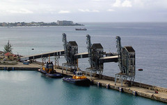 Barbados - Sugar Loaders (roger4336) Tags: ocean cruise tower pier dock atlantic sugar barbados tugboat caribbean tug loader bridgetown loading 2013
