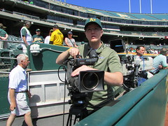 IMG_0600 (Flickred!) Tags: game baseball oaklandas cameraman baltimoreorioles oaklandathletics