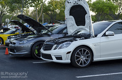 Nissan GTR and E63 AMG (Brett Levin Photography) Tags: show car university nissan florida south towers davie amg gtr e63 595 sfla