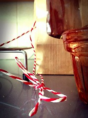 Day #119 (RafaelaMoning) Tags: red white kitchen cord wire tea stripes stripe string microwave striped twine 119 uploaded:by=flickrmobile flickriosapp:filter=nofilter