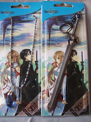 Yui's heart and Kirito's Sword B (Chimerastone) Tags: anime japan japanese keyring charm jewellery mascot collectible sao yui tvtokyo asuna kirito swordartsonline
