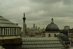 rooftops at trafalgar square (artoo-detoo) Tags: roof london skyline view trafalgarsquare dome vantagepoint portraitgallery