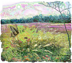 Spring into color & life........ May 4, 2013 (gailpiland) Tags: color texture photoshop butterfly painting hypothetical landsacpe vividimagination thegalaxy greenscene flickraward sharingart awardtree saariysqualitypictures gailpiland ringexcellence netartii rememberthatmomentlevel1 rememberthatmomentl1