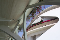 Valencia - City of Arts and Sciences 41 (Romeodesign) Tags: flowers santiago valencia architecture modern spain opera empty calatrava ciudaddelasartesylasciencias flixcandela cityofartsandsciences 550d elpalaudelesartsreinasofa